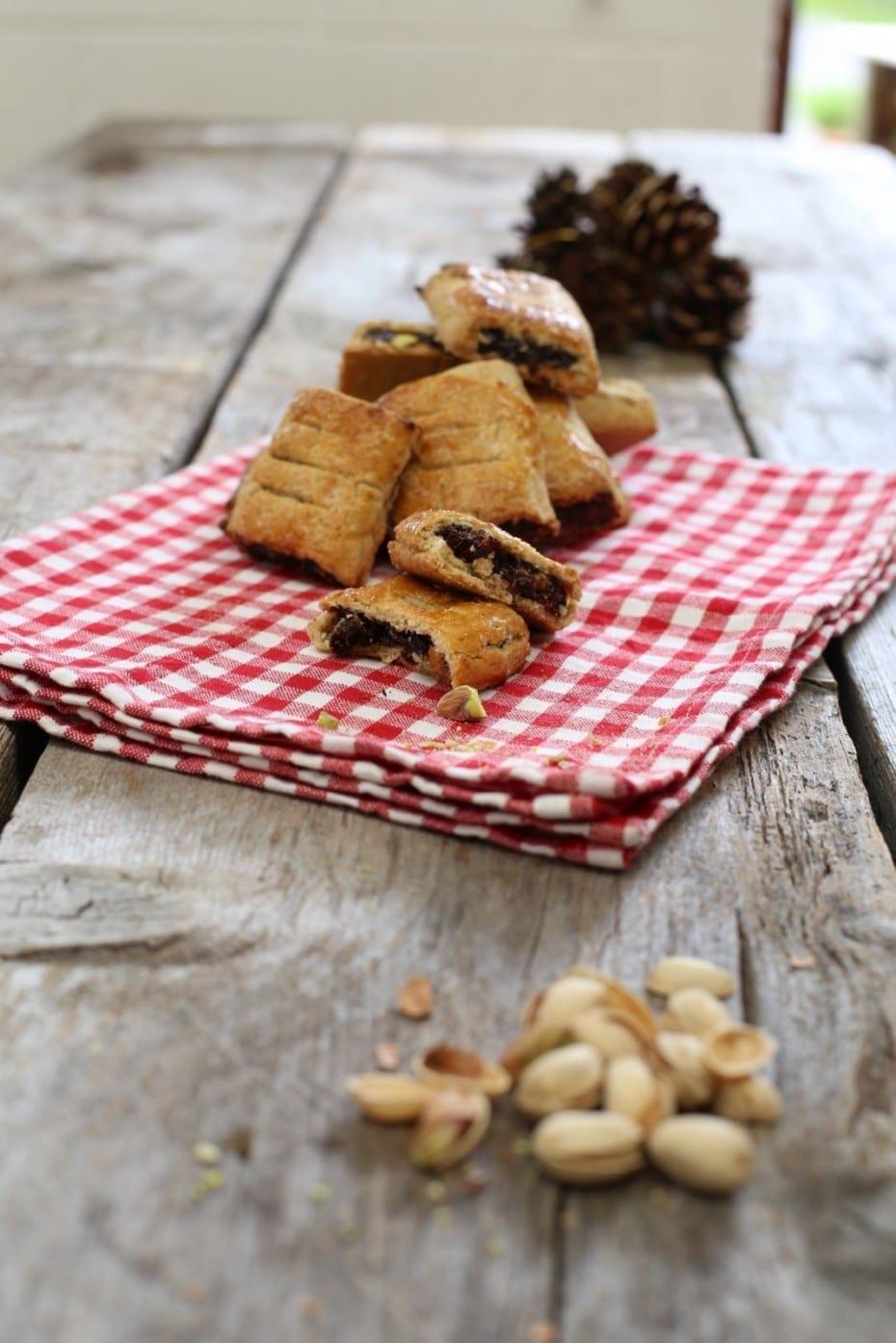 Biscottini di Prugne della California e pistacchi