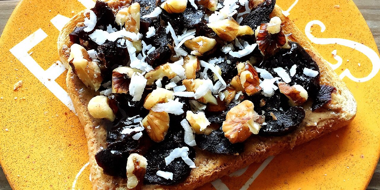 Prune Almond Toast