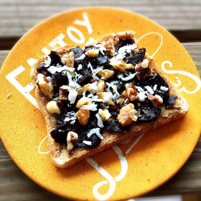 Prune Almond Toast