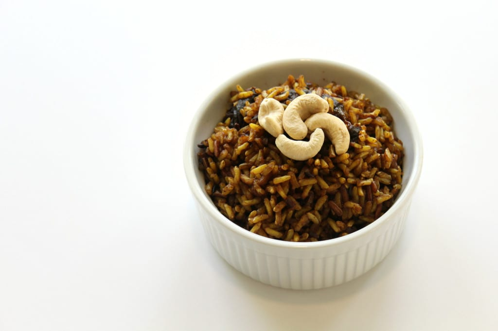 Spiced Cashew & California Prune Rice Porridge