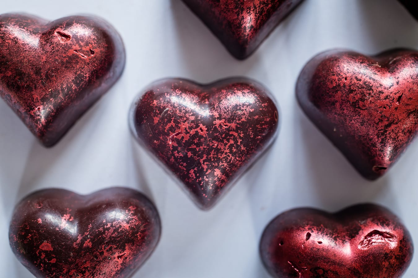 California Prune  Valentine Heart Chocolates By Paul A. Young