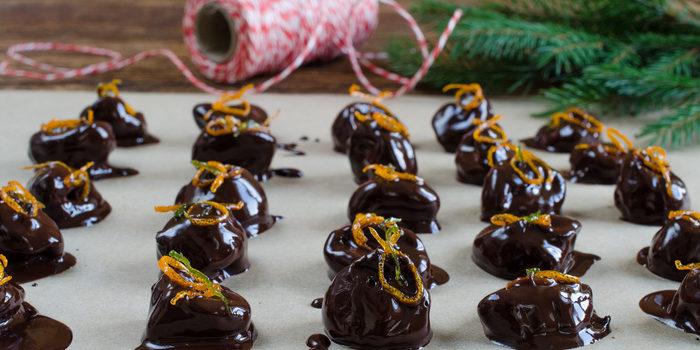 Drunken California Prunes in Dark Chocolate