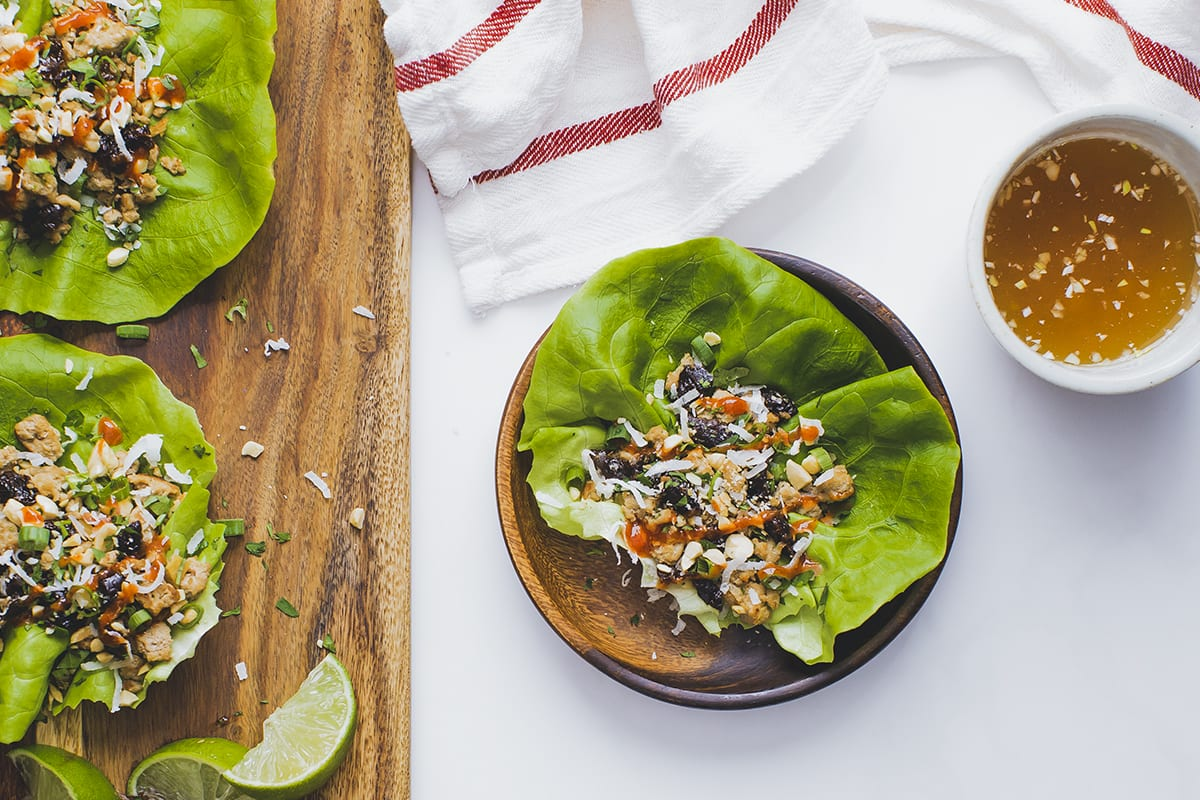 Turkey Prune Lettuce Wraps