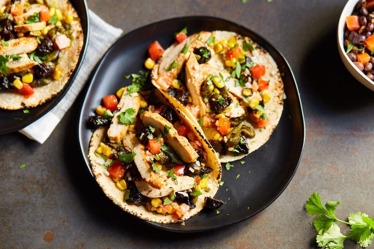 Chicken Tacos with California Prunes Salsa