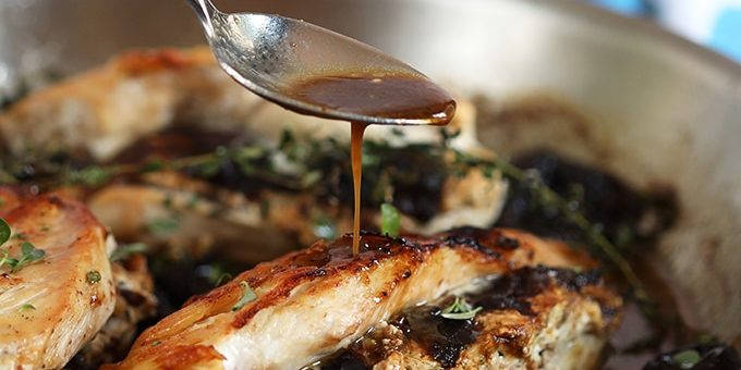 California Prune Goat Cheese Stuffed Chicken Breasts