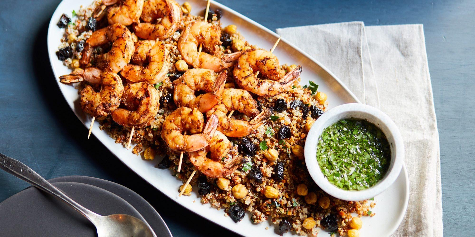 Moroccan Spiced Shrimp Skewers