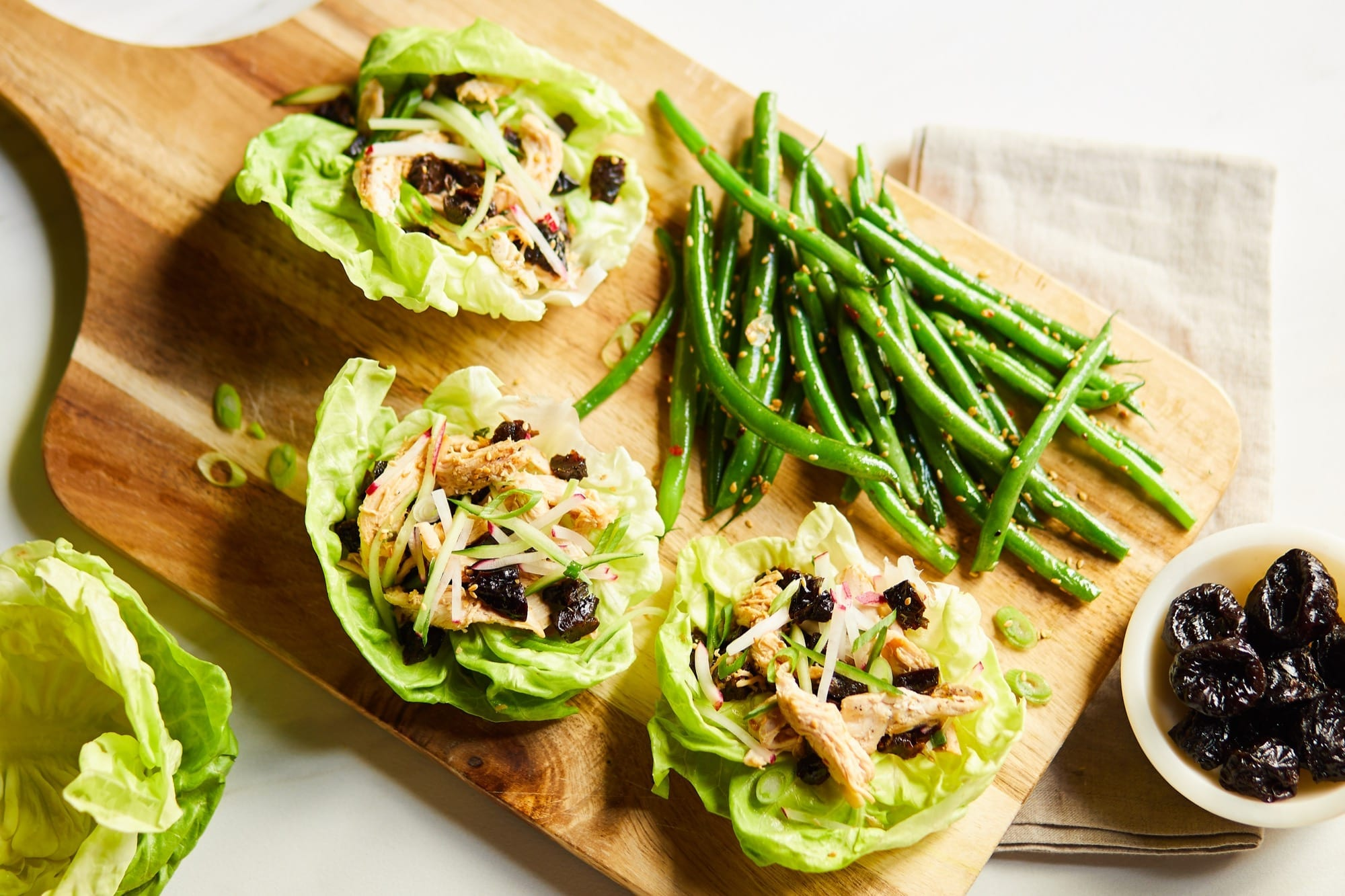 Asian Chicken and California Prunes Lettuce Wraps