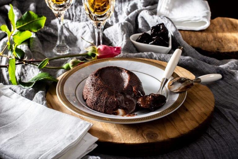 Tortino al cioccolato e Prugne della California dal cuore morbido