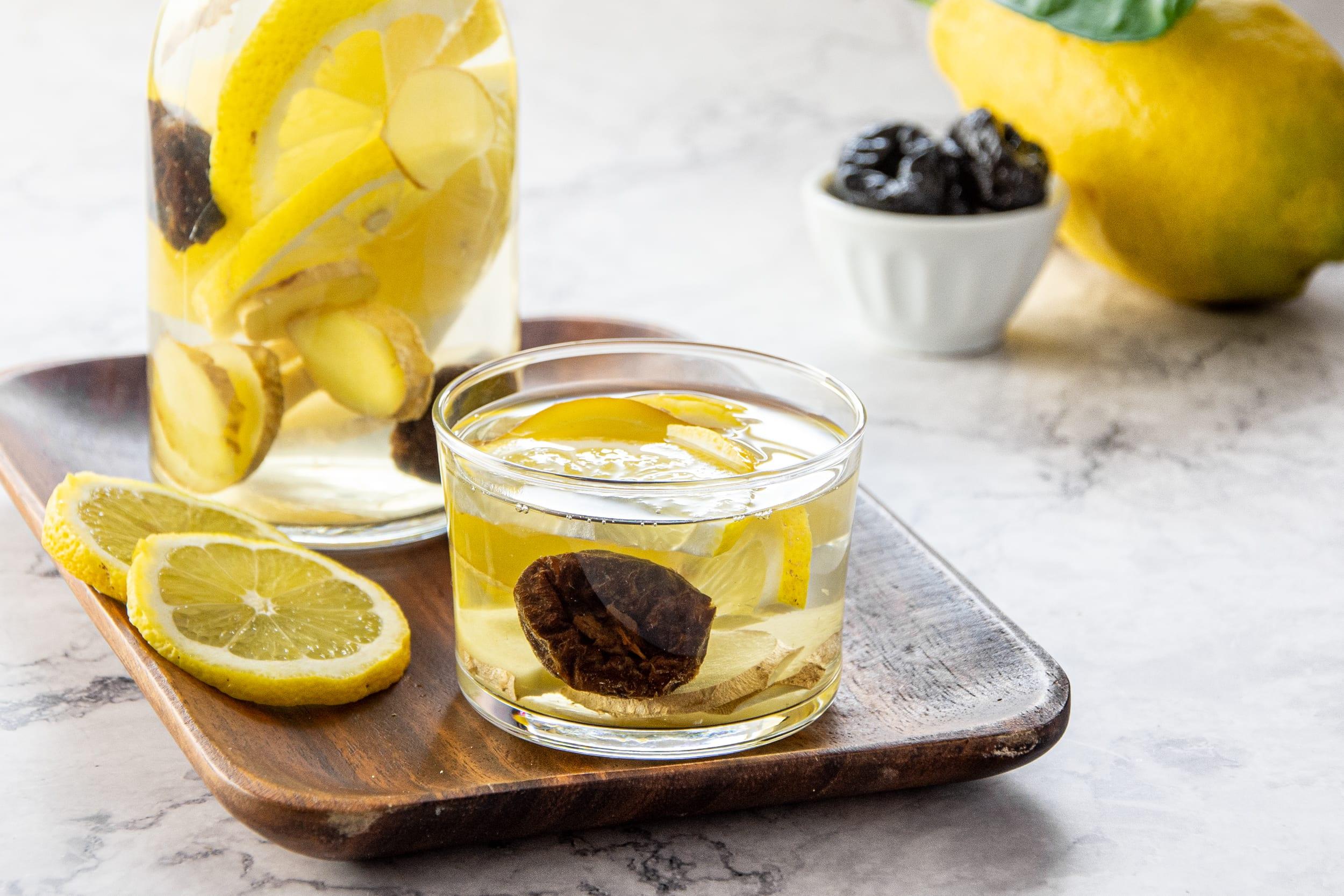 Acqua aromatizzata limone e zenzero