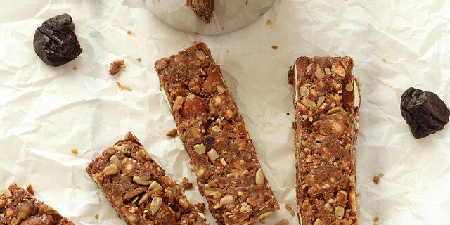 Sweet and savoury No Bake Prune Energy Bars