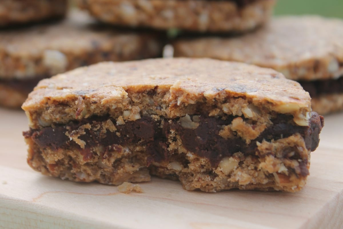 Prune Sandwich Cookies with Chocolate Ganache Filling
