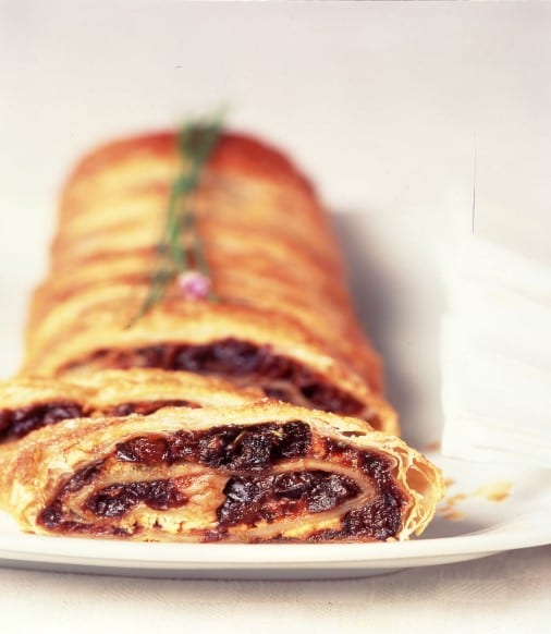 Prune and Goat Cheese Strudel