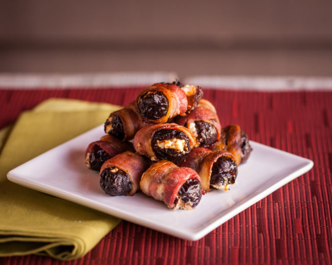 Bacon-Wrapped Prunes