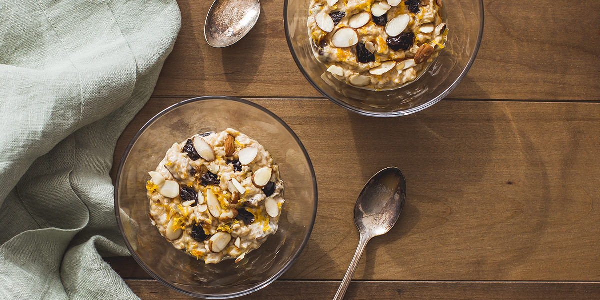 California Prune Breakfast Oat Pudding