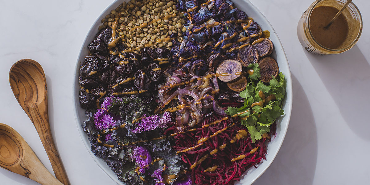 Spiced Purple Power Bowl with California Prunes
