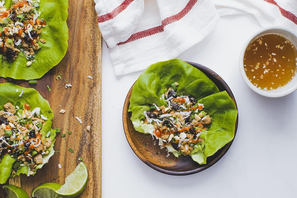 Turkey Prune Lettuce Wraps