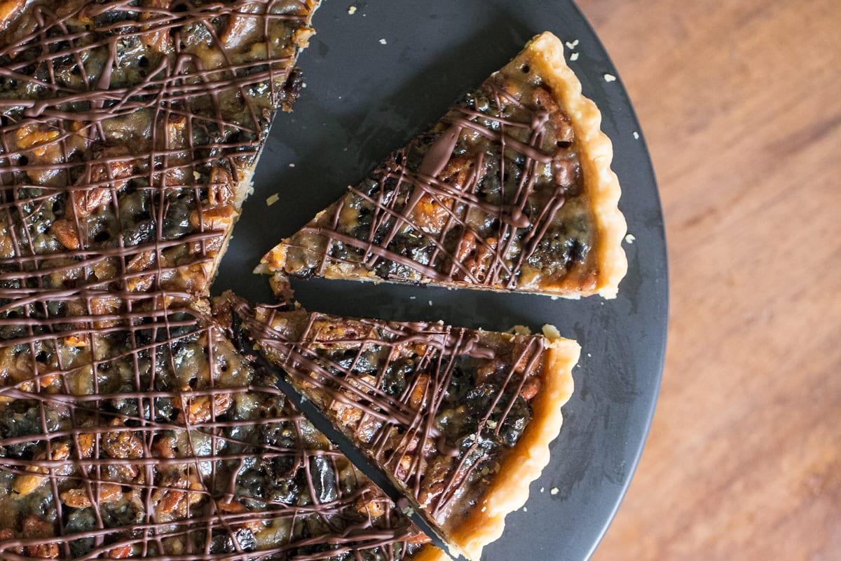 Caramelised Pecan & Prune Tart