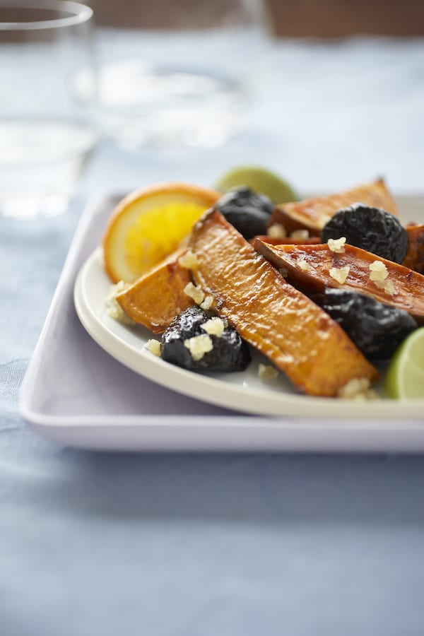 Glazed Sweet Potatoes & Prunes with Ginger