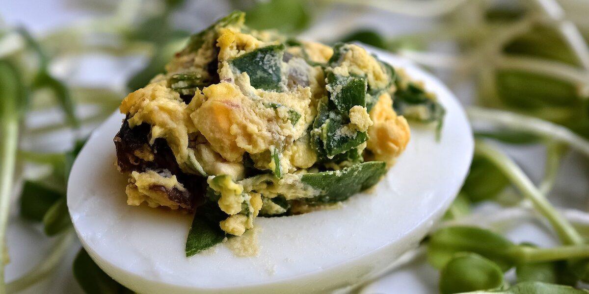Mediterranean Deviled Eggs